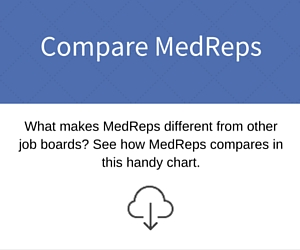 How does MedReps compare to other job boards?